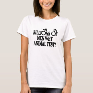 Feminist funny animal test T Shirts