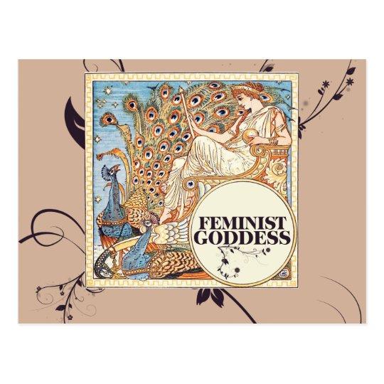 Feminist goddess postcard