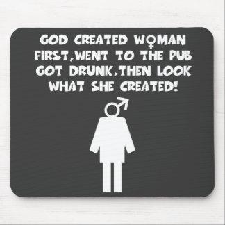 Feminist humor mousemat