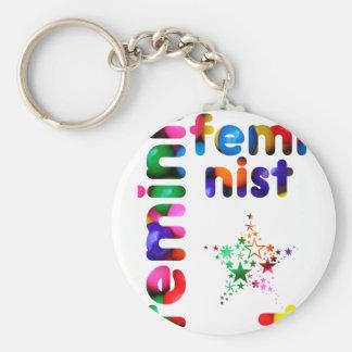 Feminist Jellybean Key Chain