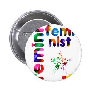 Feminist Jellybean Pinback Buttons