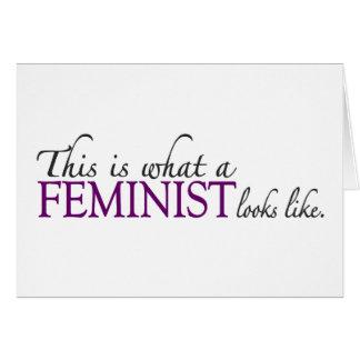 Feminist Looks Like Greeting Card