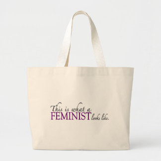 Feminist Looks Like Large Tote Bag