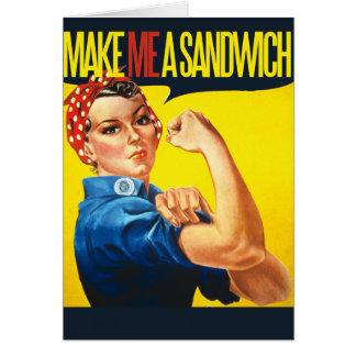 Feminist Make me a Sandwich Card