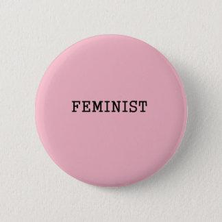 Feminist minimal 6 cm round badge