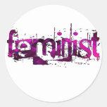 Feminist Round Stickers