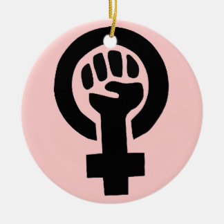 Feminist Symbol Christmas Ornament