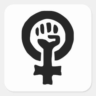Feminist Symbol Logo Square Sticker