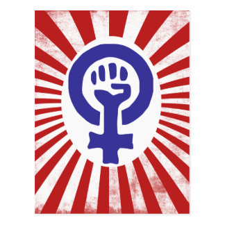 Feminist Symbol Postcard