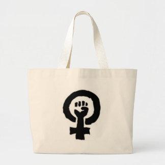 Feminist Symbol Jumbo Tote Bag