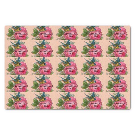 Feminist vintage bird tissue paper