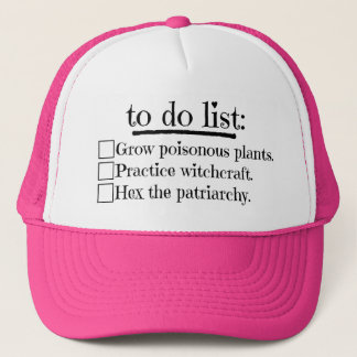 Feminist Witch To Do List Trucker Hat