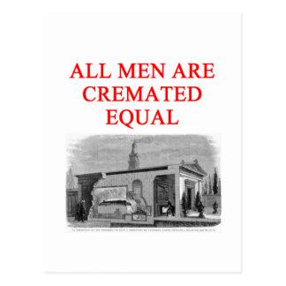 feminist women joke postcard