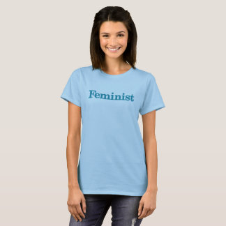 Feminist Womens shirt - blue