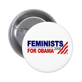 Feminists for Obama 2008 Buttons