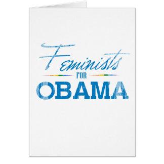 Feminists for Obama Vintage.png Greeting Card