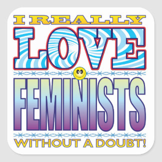 Feminists Love Face Square Sticker