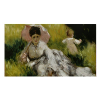 Femme à l'ombrelle et enfant - Auguste Renoir Business Card