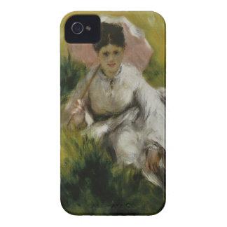 Femme à l'ombrelle et enfant - Auguste Renoir iPhone 4 Covers