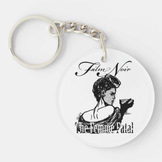 Femme Fatal Single-Sided Round Acrylic Keychain