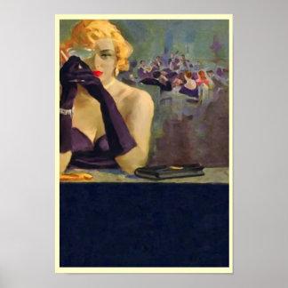 Femme Fatale Print Poster