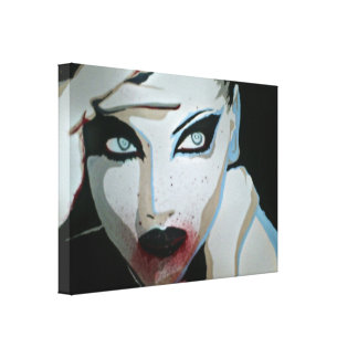 'Femme Fatale' Stretched Canvas Print