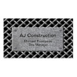 Fence and Galvanised Plate Pack Of Standard Business Cards