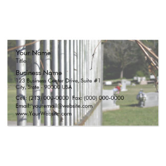 Fence at a cemetery pack of standard business cards