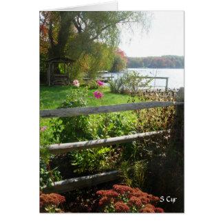 Fence, Flowers, Foliage, S Cyr Card