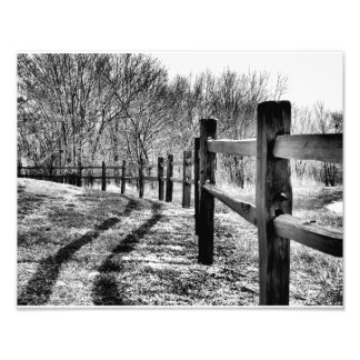 Fence in photo art