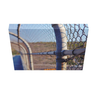 Fence over-bridge stretched canvas prints
