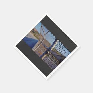 Fence over-bridge paper serviettes