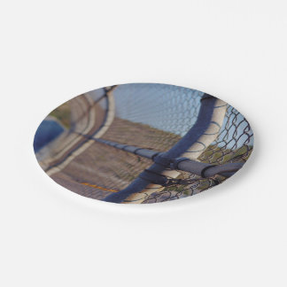 Fence over-bridge 7 inch paper plate