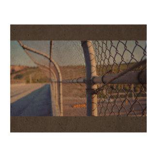 Fence over-bridge cork fabric
