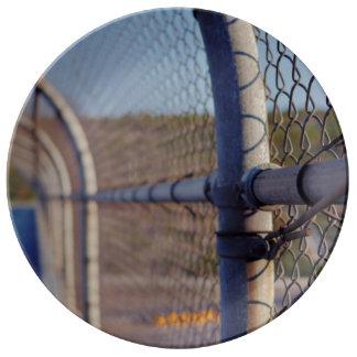 Fence over-bridge porcelain plates