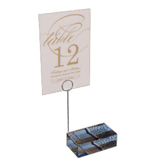 Fence over-bridge table card holder