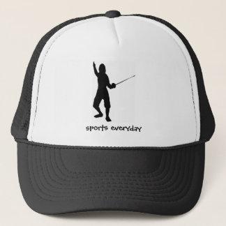 fence-play,swordplay,skate,sport,gym,compete, spor trucker hat
