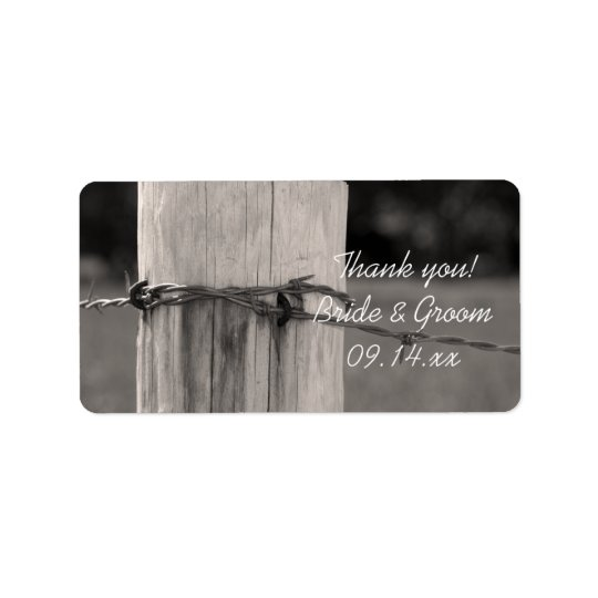 Fence Post Country Wedding Thank You Favour Tags