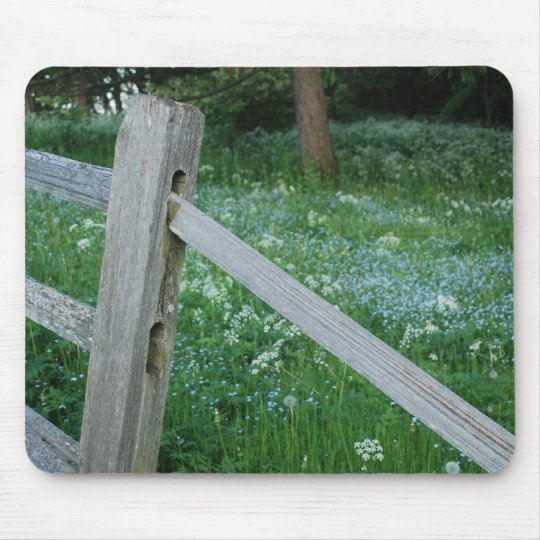 Fence to a Field Mouse Pad