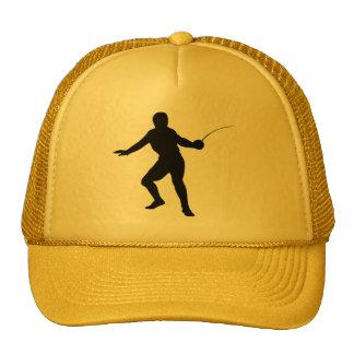 Fencer; Fencing; yellow Cap