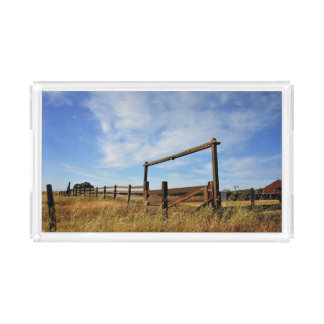 Fences in Field Acrylic Tray