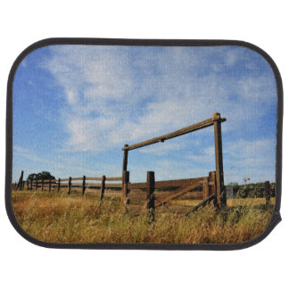 Fences in Field Car Mat