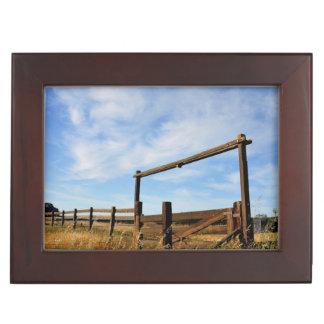 Fences in Field Keepsake Box