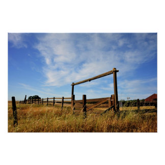 Fences in Field Poster