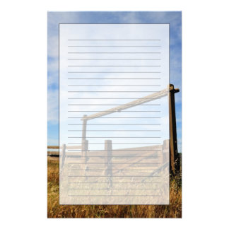 Fences in Field Stationery Design