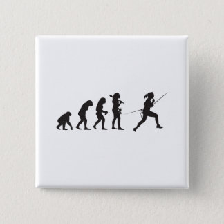 Fencing 15 Cm Square Badge