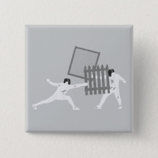 Fencing 15 Cm Square Badge