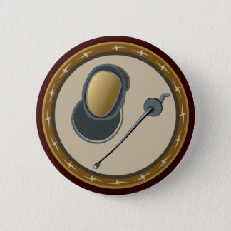 Fencing 6 Cm Round Badge