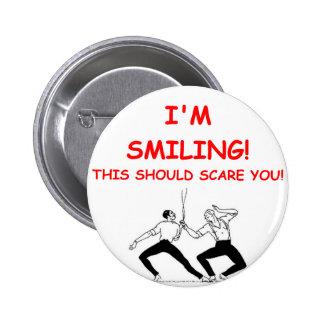 fencing 6 cm round badge