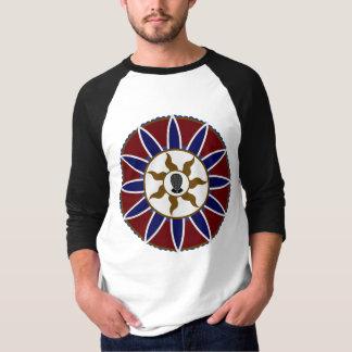 Fencing Bear at Prayer Mandala Logo (Without Text) T-Shirt